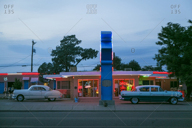 Tucumcari, New Mexico, USA - June 26, 2015: Blue Swallow Motel from the street