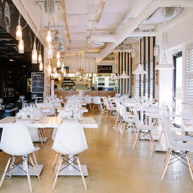 Alberta, Canada - January 29, 2015: Interior of a restaurant in Alberta, Canada