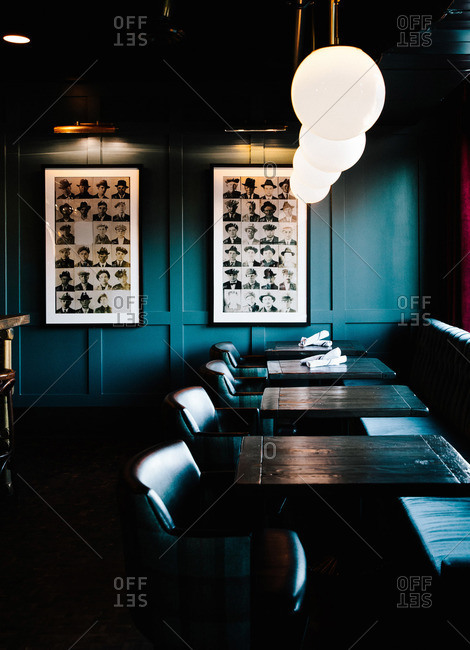 Alberta, Canada - January 28, 2015: Cozy restaurant in Alberta, Canada