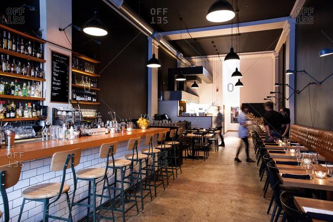 Alberta, Canada - January 25, 2015: Bar and restaurant in Alberta, Canada