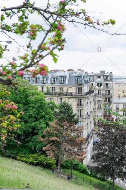 Architecture in springtime Paris, France