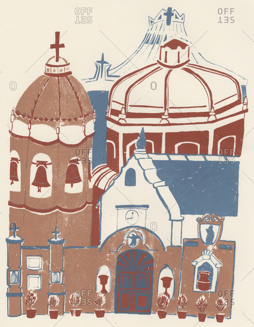 Domes and towers of a cathedral