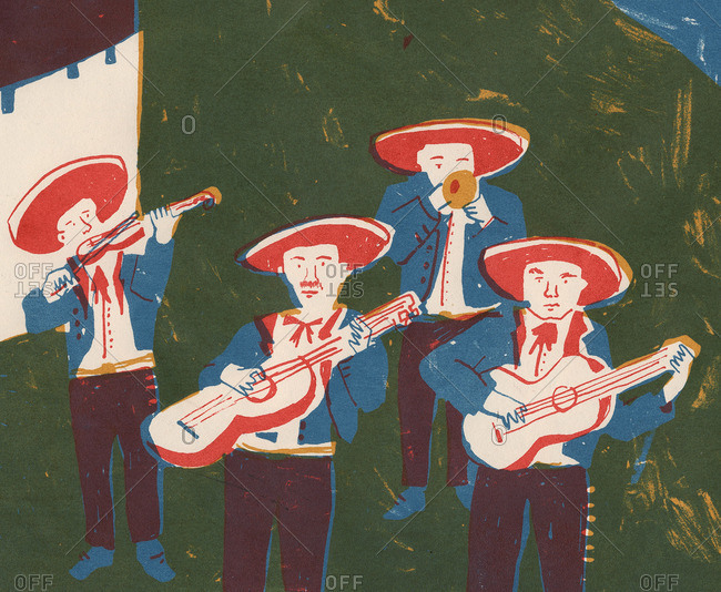 Men in hats playing instruments