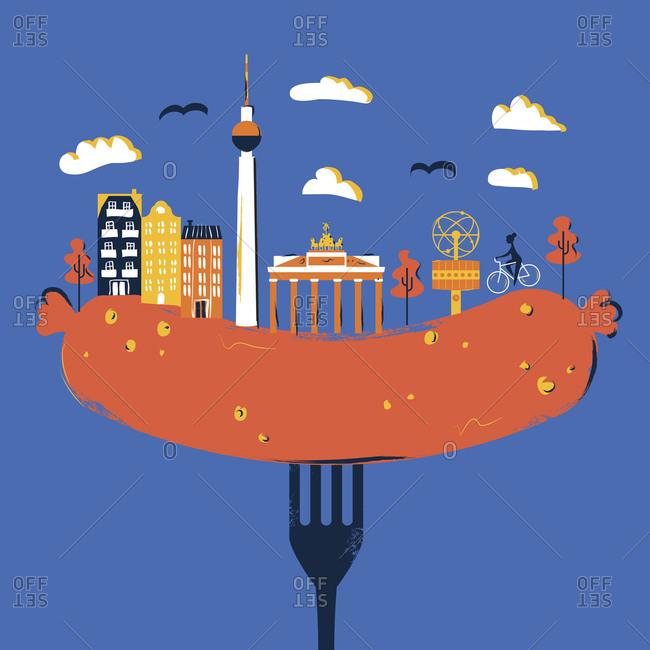 Berlin on a sausage