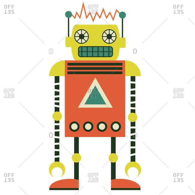 A retro robot