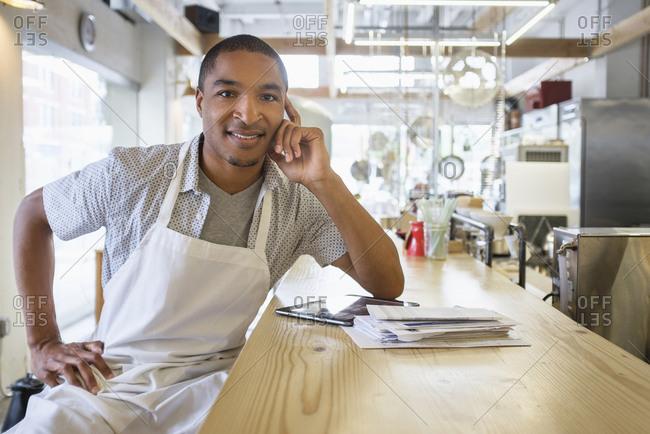 Portrait of bakery owner