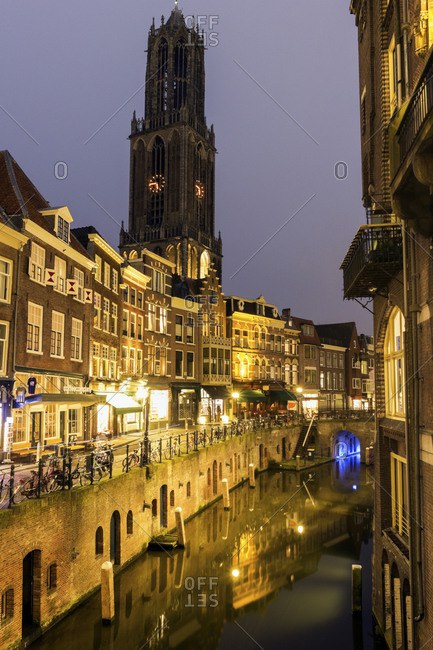 Canal at sunset, Utrecht