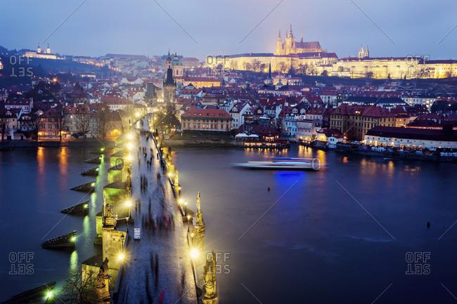 Charles Bridge and Hradcany Castle, Prague