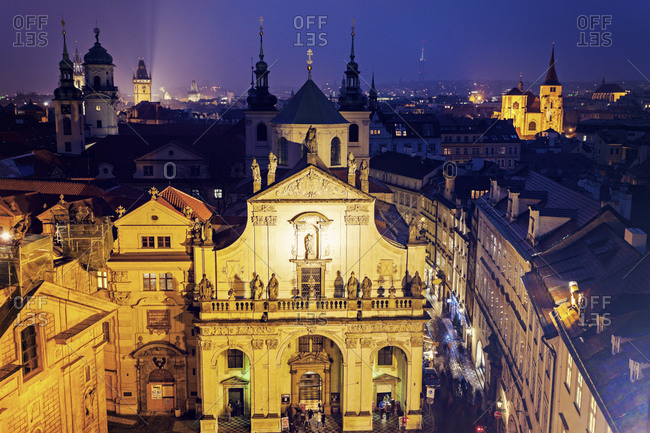 Church at night, Prague