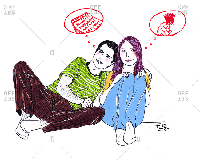 Couple with different feelings of commitment