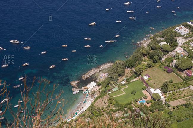Boats on the Mediterranean coast