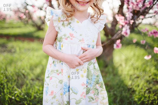 Little girl wearing a sundress