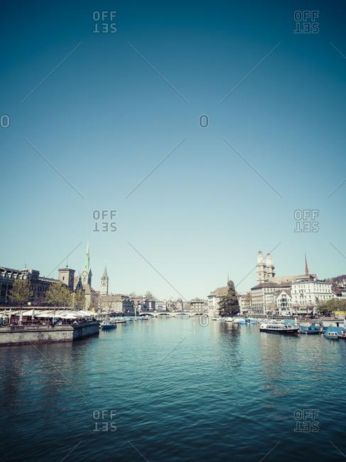 View to Limmat river, Zurich