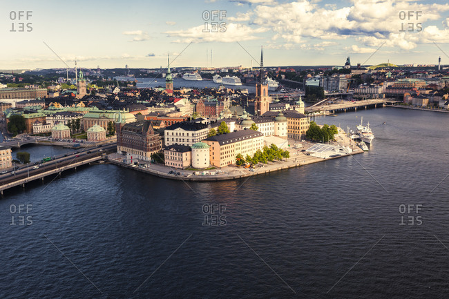 The central and old town island of Stockholm