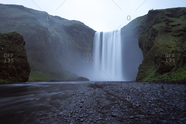 Waterfall scenery in Iceland