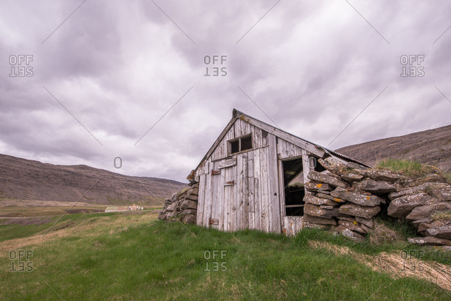 Old building in remote Icelandic landscape
