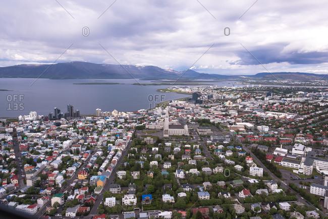 Cityscape of Reykjavik, Iceland - Offset