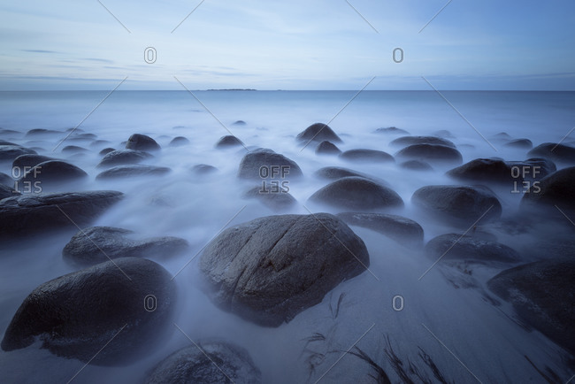 Boulders in Arctic sea