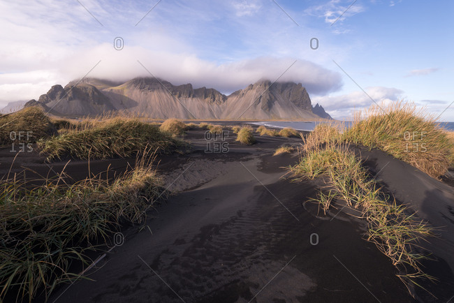 Rugged coastal terrain in Iceland
