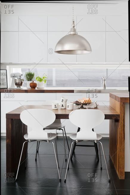 A modern Swedish kitchen table
