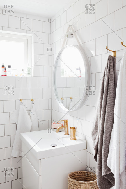 A simple white bathroom in Sweden