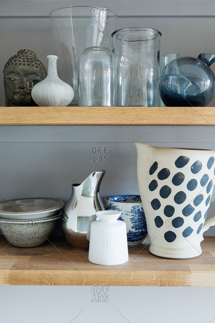 Pitchers and glass jars in a Swedish kitchen