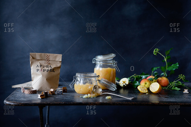 Applesauce and brown paper bags