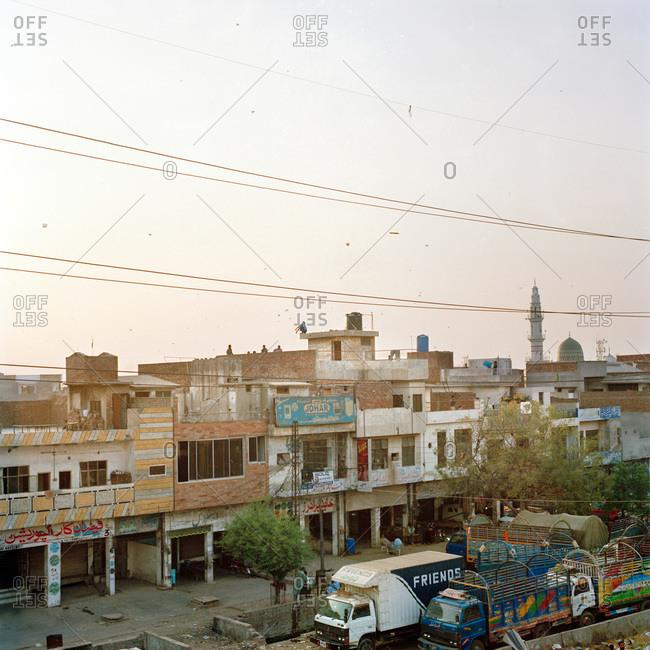 Lahore, Pakistan - March 1, 2009: Neighborhood street in Pakistan