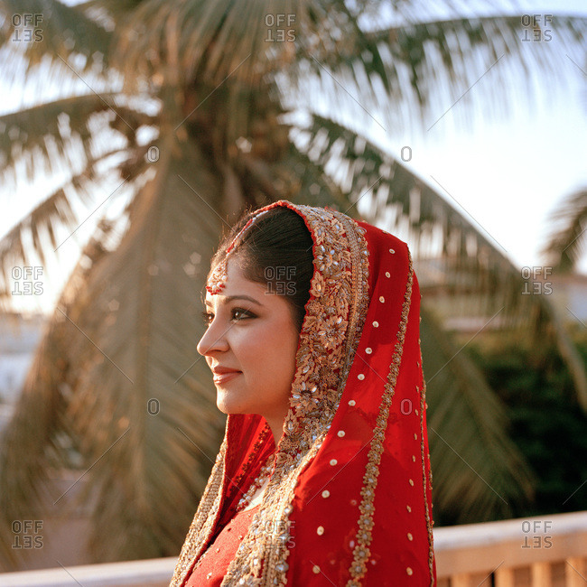 Portrait of Pakistani bride on her wedding day
