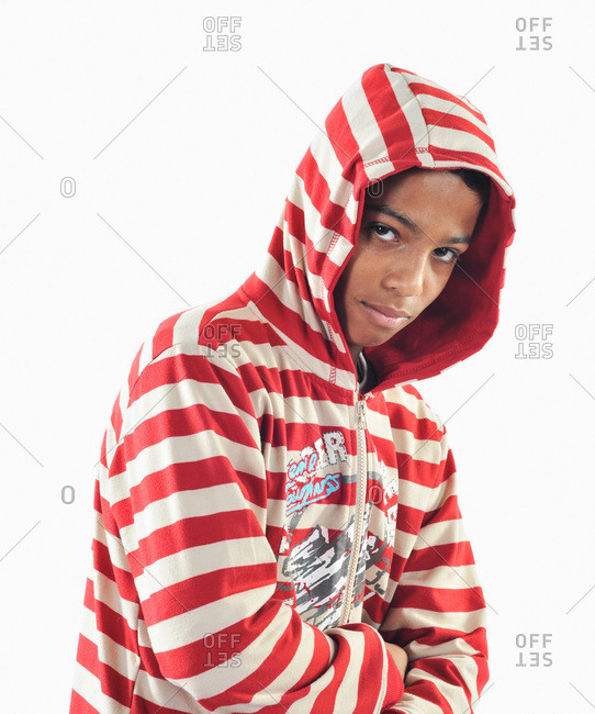 Dhahran, Eastern Province, Saudi Arabia - December 1, 2009: Saudi Arabian teen male in hoodie