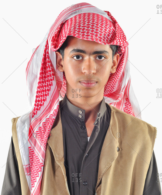 Dhahran, Eastern Province, Saudi Arabia - December 3, 2009: Saudi Arabian teen male in traditional dress