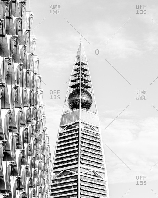Riyadh, Saudi Arabia - November 21, 2013: Top of Al Faisaliyah Center in Saudi Arabia