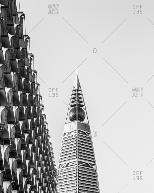 Riyadh, Saudi Arabia - November 24, 2013: Top of Al Faisaliyah Center in Saudi Arabia