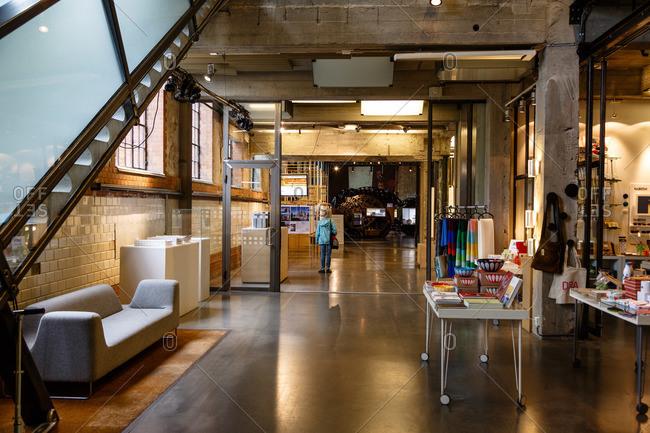 Oslo, Norway - June 28, 2015: DogA Norwegian Centre for Design & Architecture, Grunerlokka neighborhood, Oslo, Norway