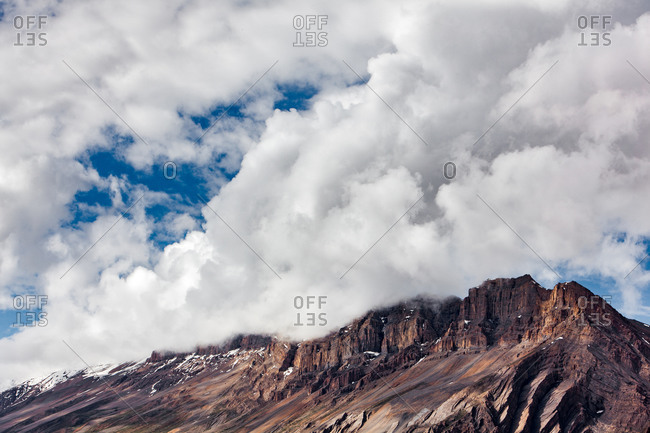 Clouds on the hill above Kwang, Spiti, Himachal Pradesh, India