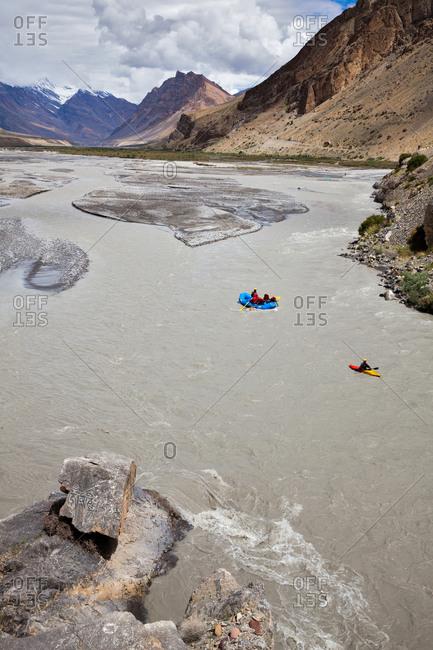 Spiti river rafting in Himachal Pradesh, India