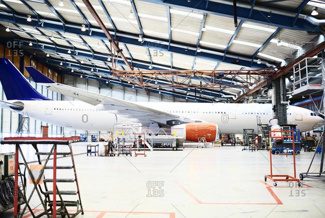 Plane in hangar