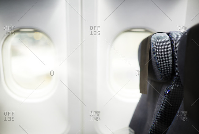 Detail of an airplane interior