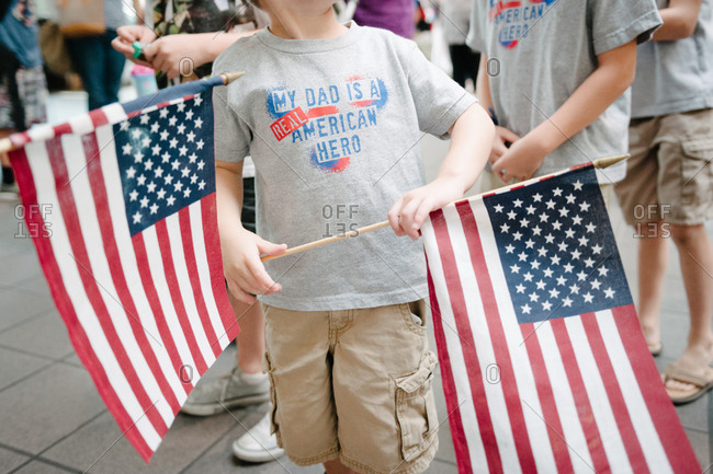 Children at a Labor Day parade