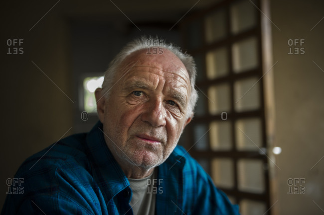 December 11, 2012: An old farmer in his house in Peru