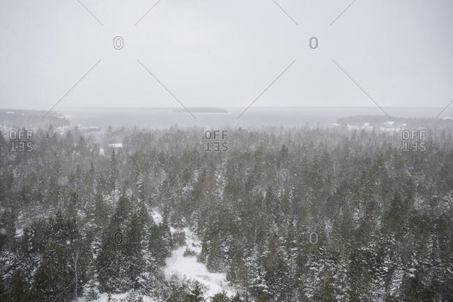 A view of Georgian Bay in Canada in winter