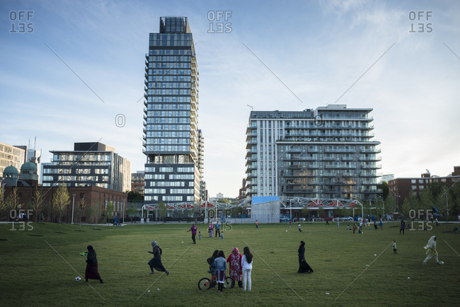 June 21, 2014: New recreation and sport facilities in Regent Park, Toronto, Canada