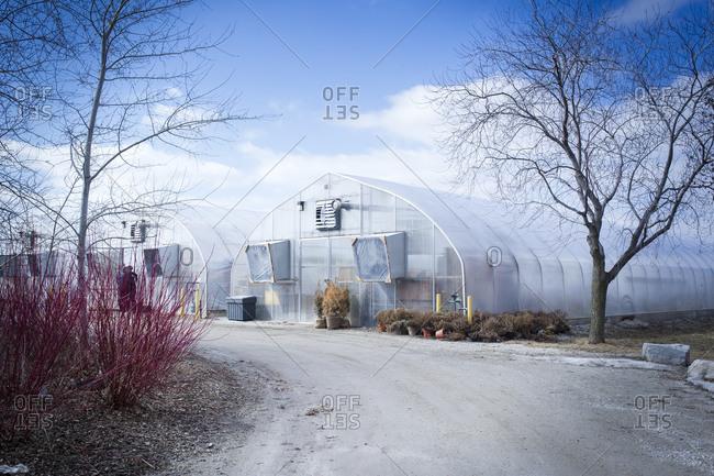 April 2, 2014: An urban farming greenhouse in Toronto, Canada