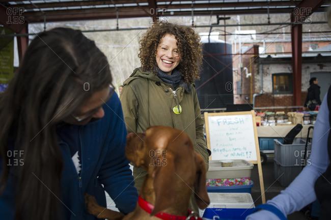 May 3, 2014: A dog at a Toronto farmer's market