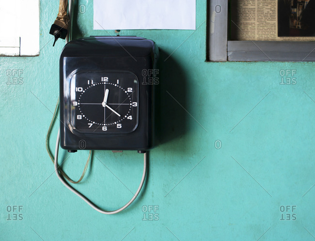 Timeclock on a wall