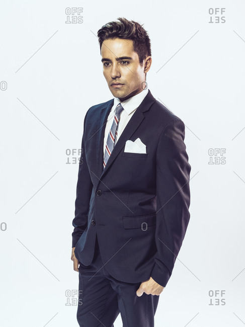 Young man in a suit and tie