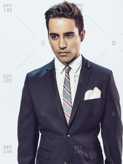 Portrait of a man in a suit and tie