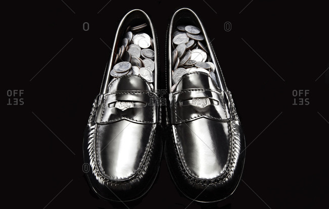 Nickel loafers with loose change