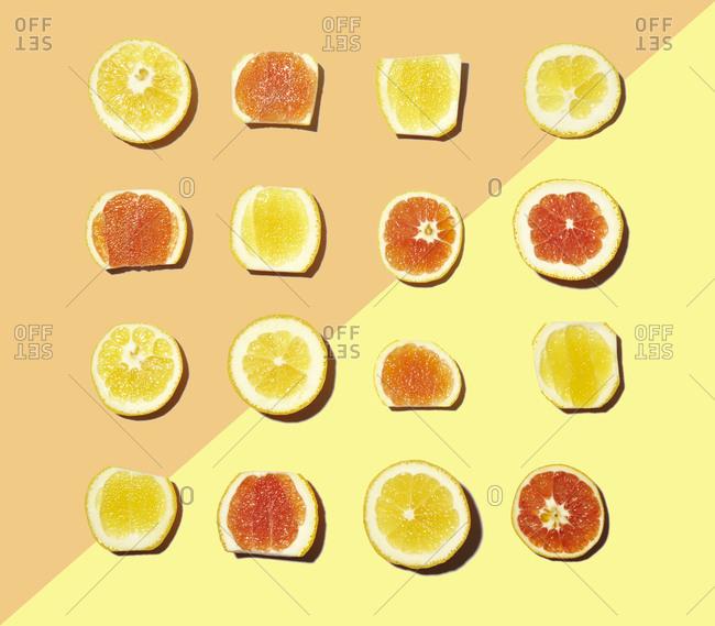 A still life of citrus rinds
