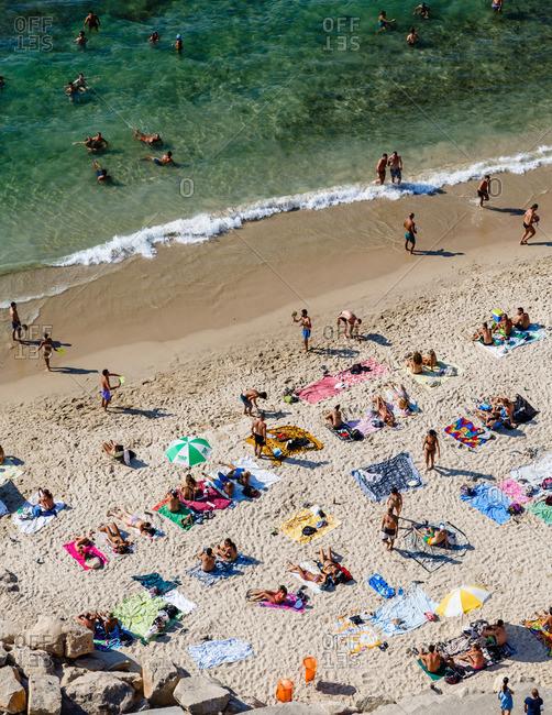 Tel Aviv, Israel - September 5, 2014: People enjoying the beach